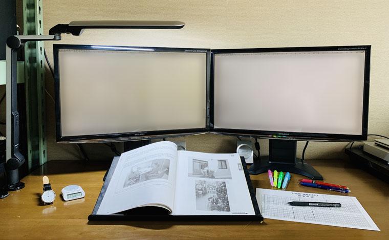 勉強しているところ