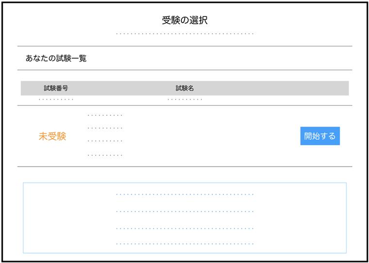 G検定試験の選択画面